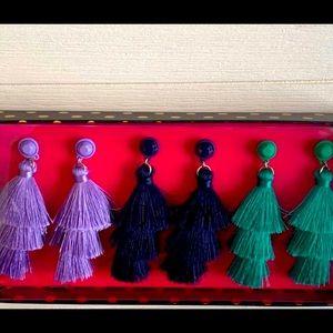 NWT 3 set of tassel earrings by J. Crew